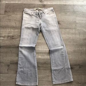 Grey GAP ultra low rise stretch jeans in size 2R